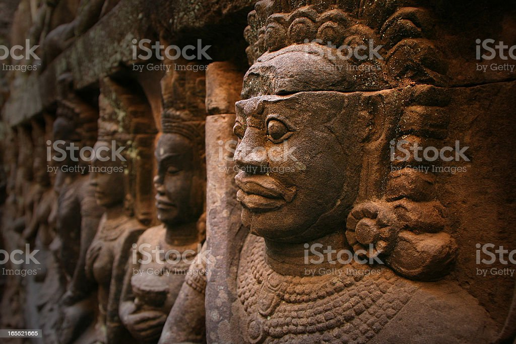 Angkor Wat, statue in Cambodia royalty-free stock photo