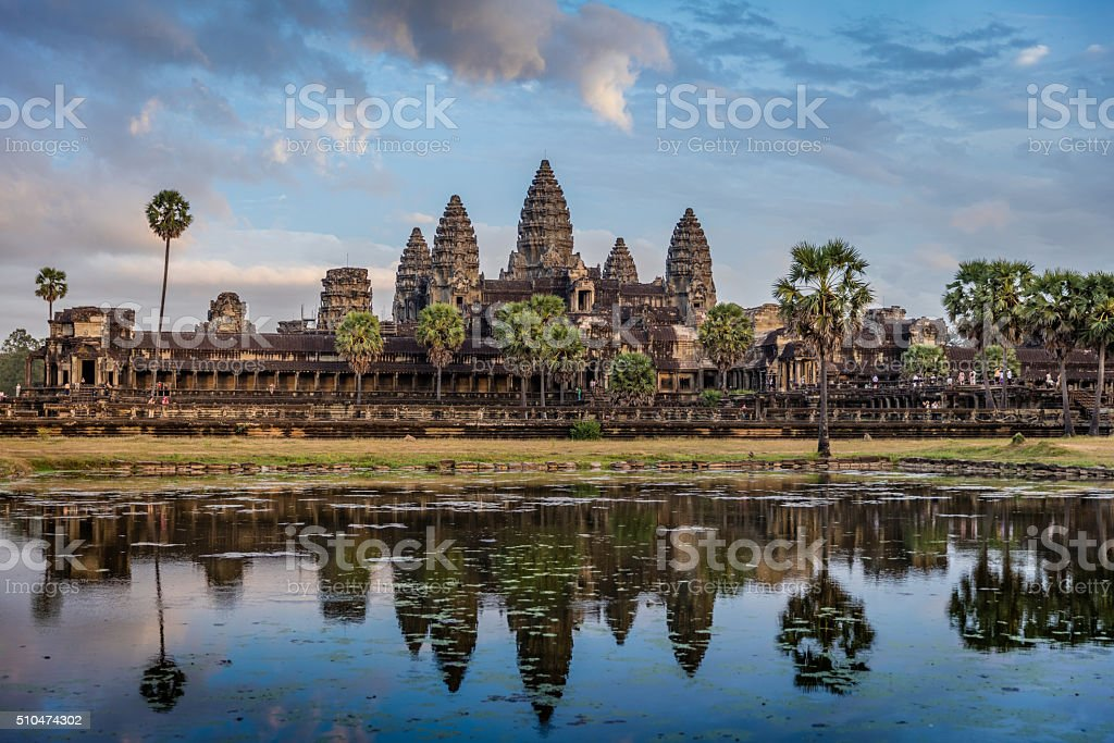 Angkor Wat Sunrise Cambodia stock photo