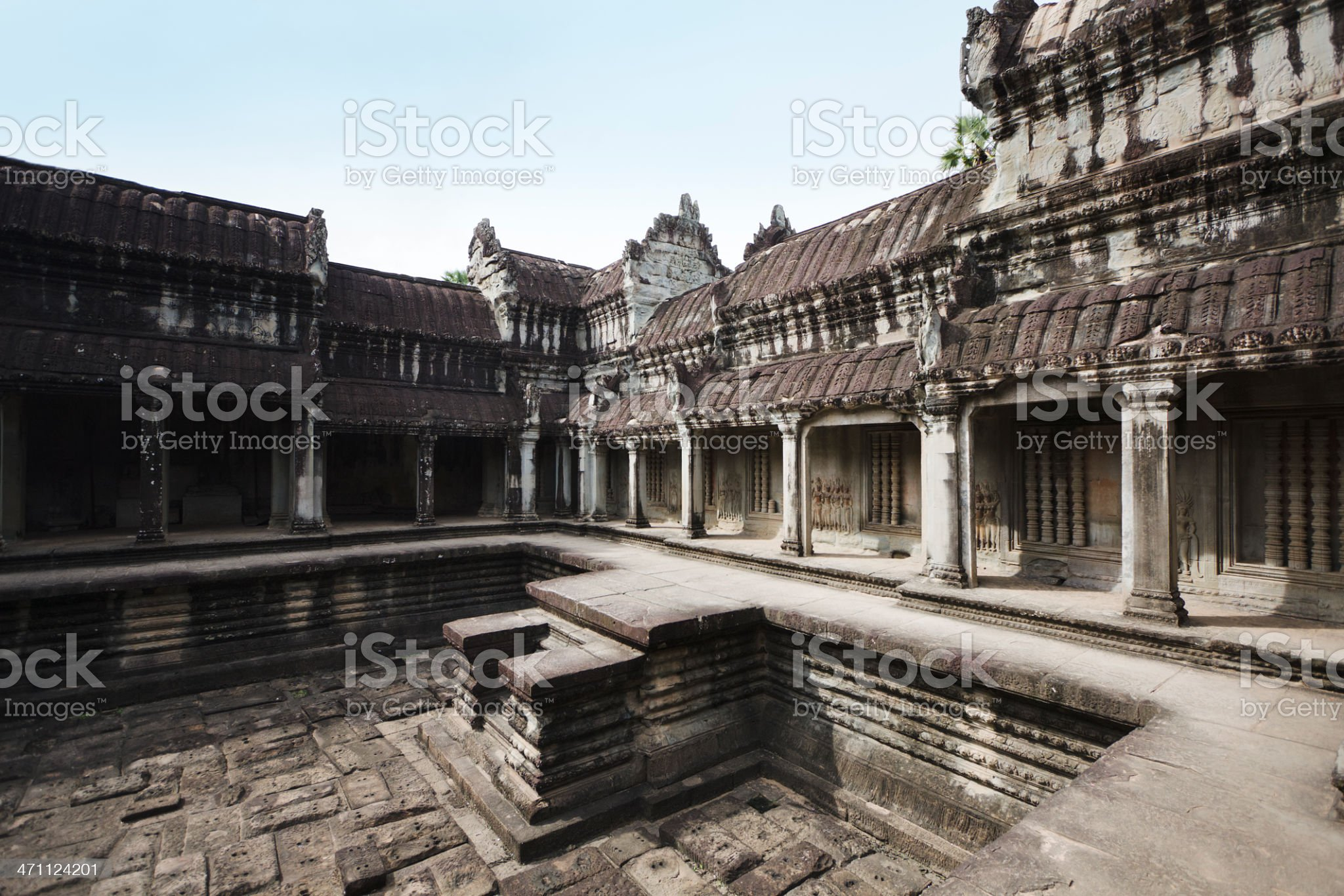 Angkor Wat Temple Courtyard royalty-free stock photo