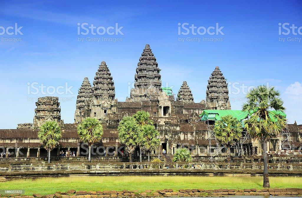Angkor Wat Temple in Cambodia royalty-free stock photo
