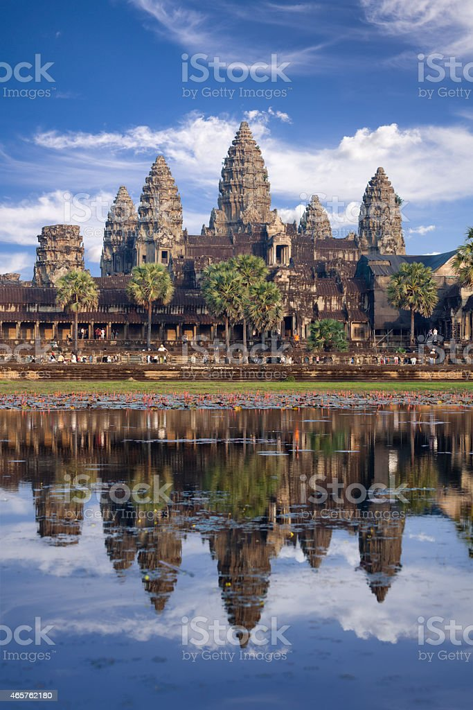 Angkor Wat temple in Cambodia stock photo