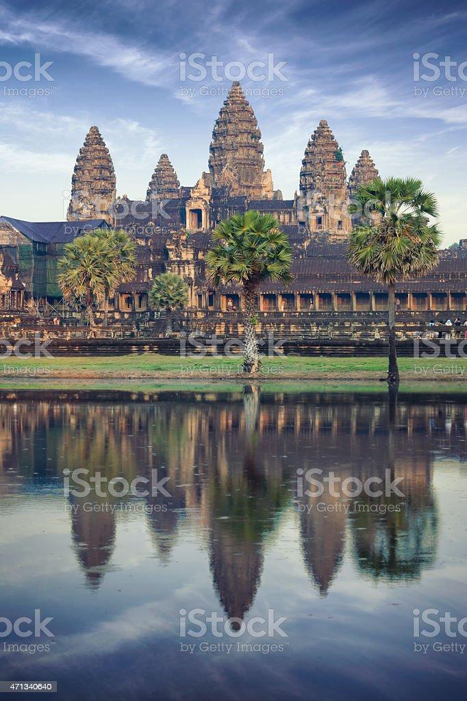 Angkor Wat temple in Cambodia stock photo