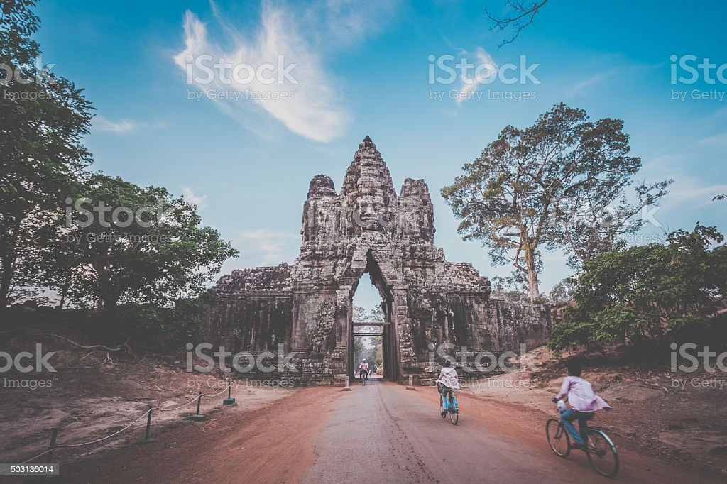 Angkor Wat Temple, Siem Reap, Cambodia stock photo