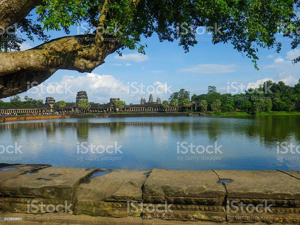 Angkor Wat Temple Tonle Sap Lake Cambodia stock photo