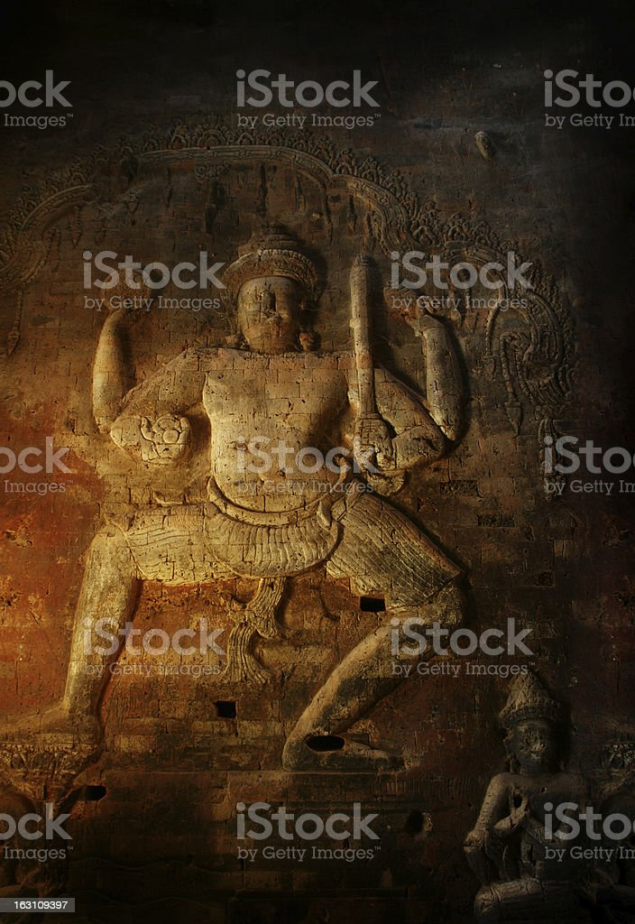 Angkor wat temples in Cambodia royalty-free stock photo