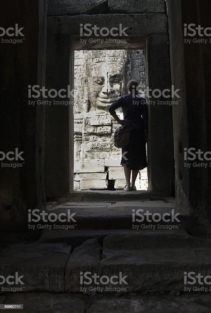 Angkor Wat: through the doorway stock photo