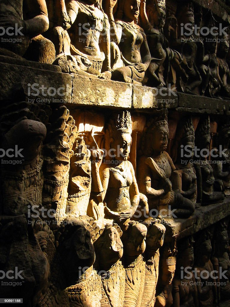 angkor wat tomb light aspara art royalty-free stock photo