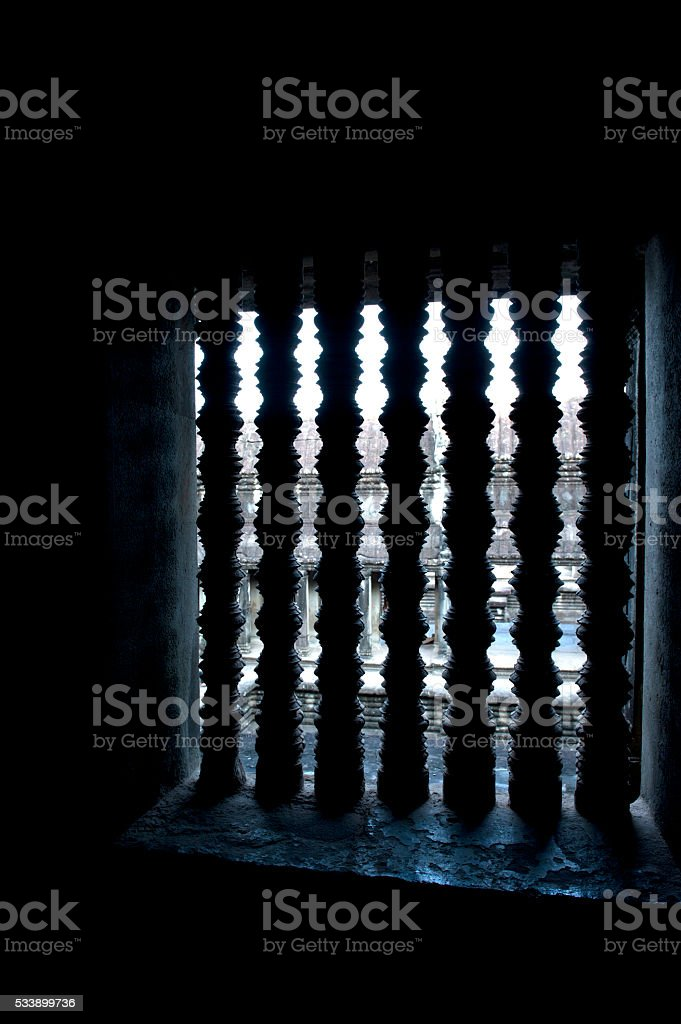 Angkor Wat window stock photo