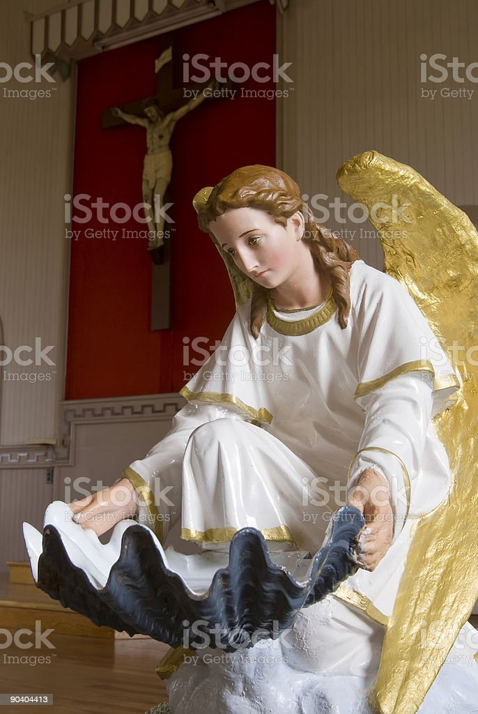 Angle and Christ Figure royalty-free stock photo