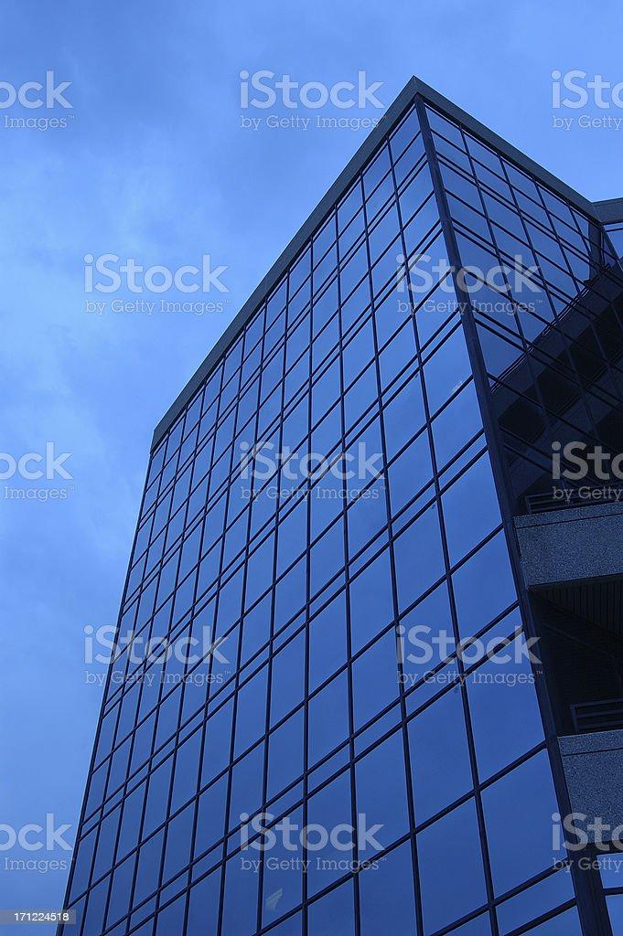 angle blue glass building stock photo