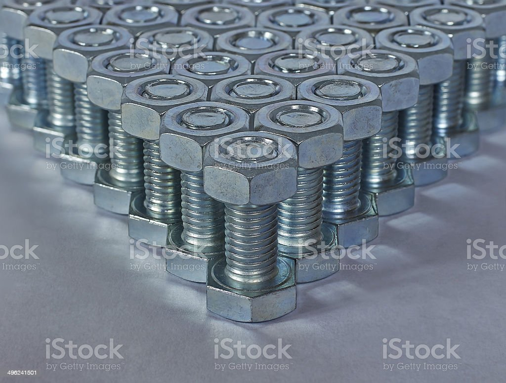 angle of bolts royalty-free stock photo
