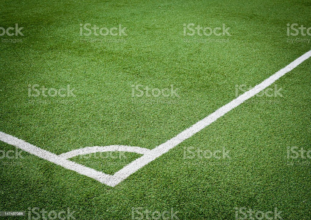Angle Of Soccer Field stock photo