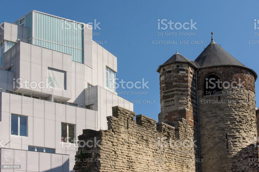 Angle tower in Brusserls stock photo