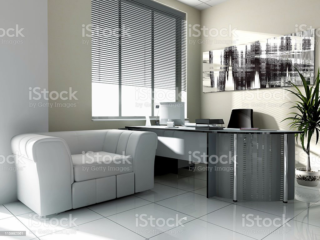 Angle view of a modern office showing reception area royalty-free stock photo