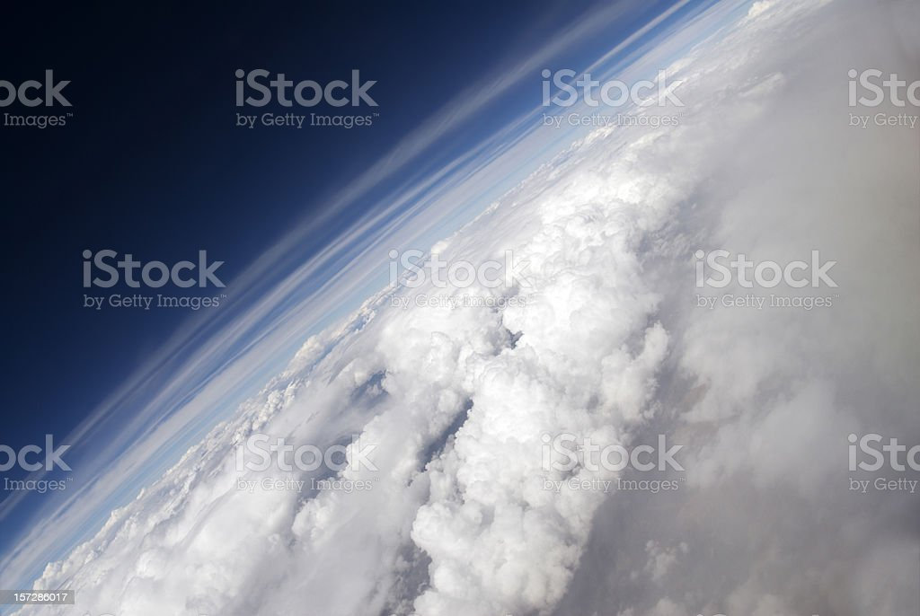 Angled Aerial of Earth stock photo