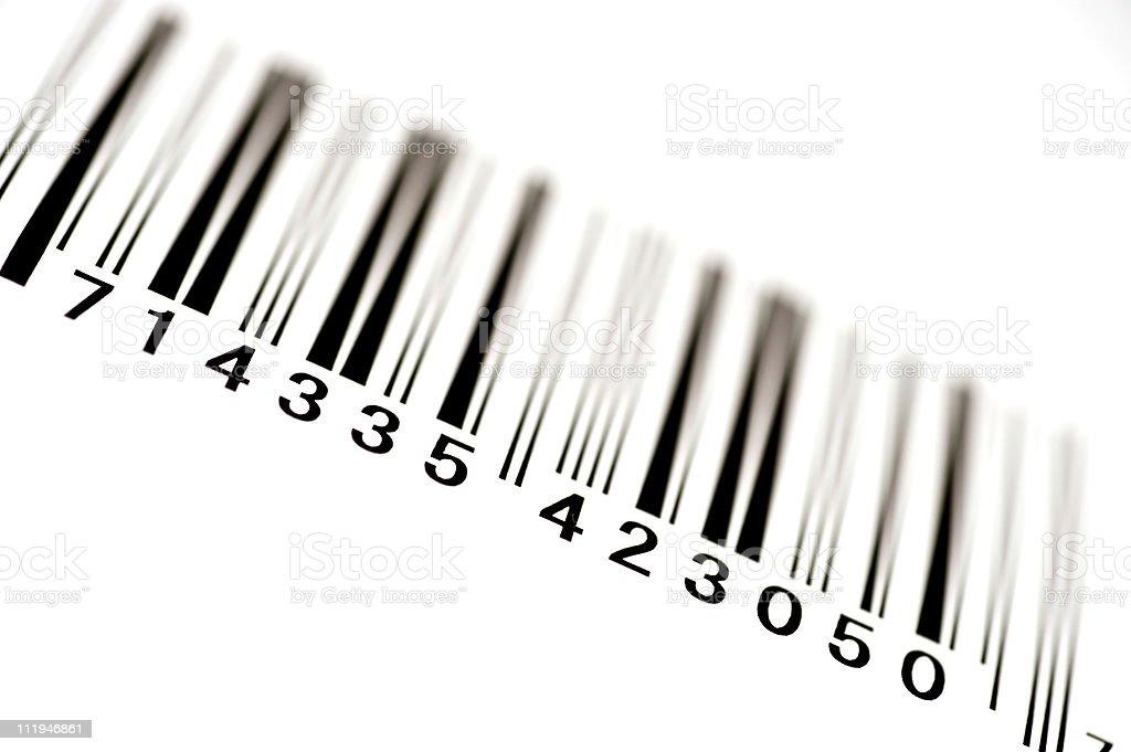 Angled Bar Code With Shallow DOF royalty-free stock photo