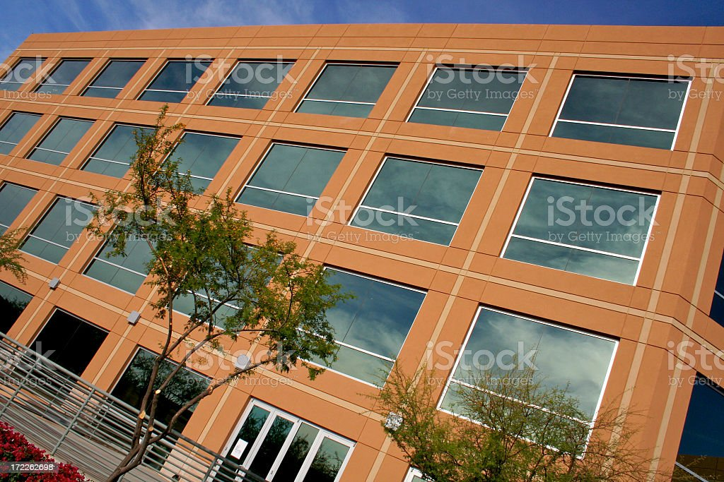 Angled Business Building royalty-free stock photo