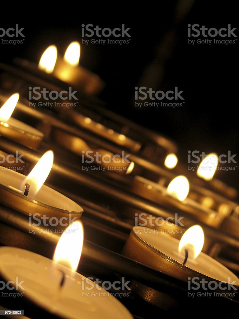 angled candles stock photo