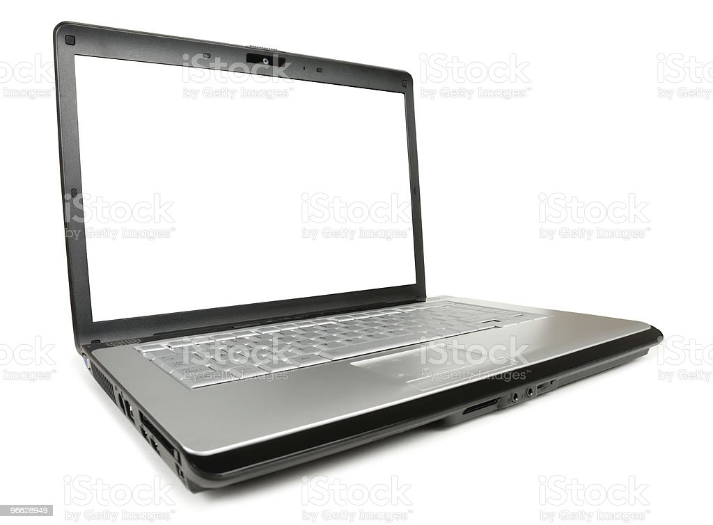 Angled Classic Laptop royalty-free stock photo