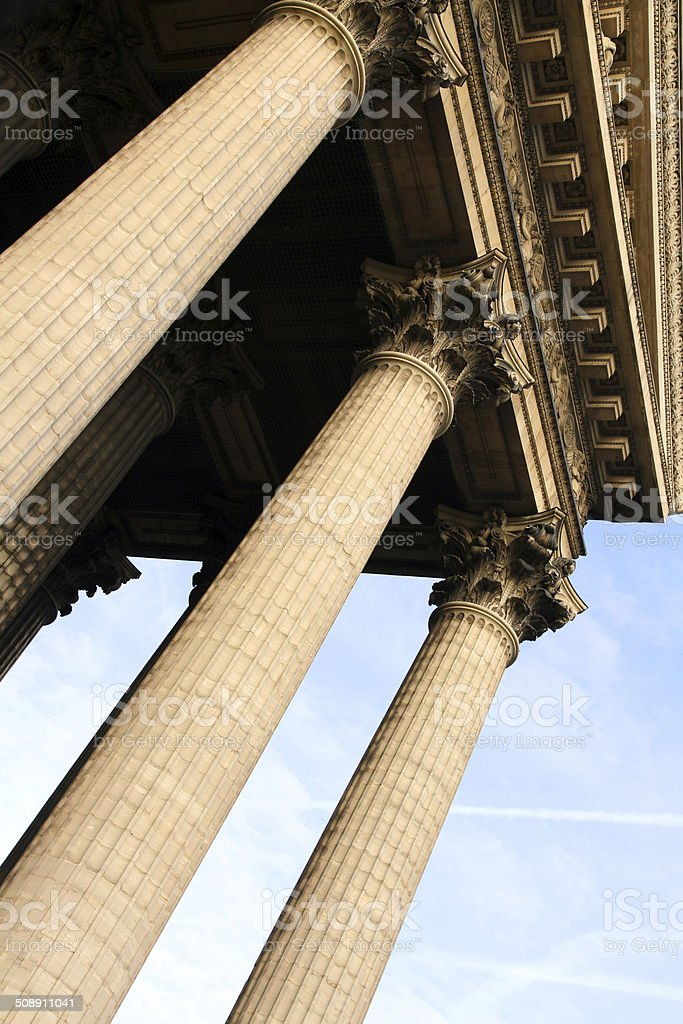 Angled Columns royalty-free stock photo