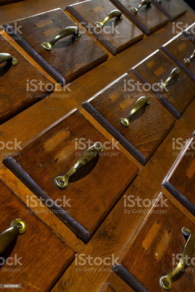 angled Drawers stock photo