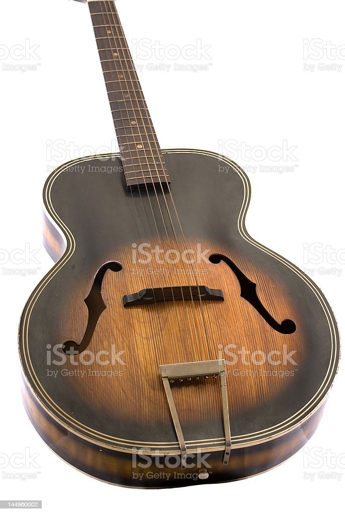 Guitarra angular corpo, branco Iso foto royalty-free