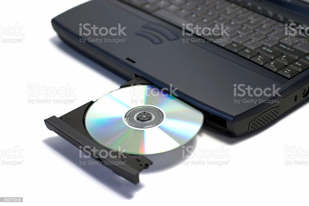 Angled Laptop royalty-free stock photo