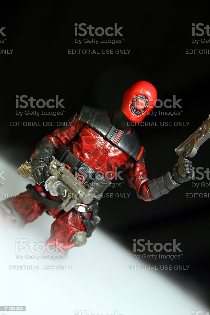 Angled Red stock photo