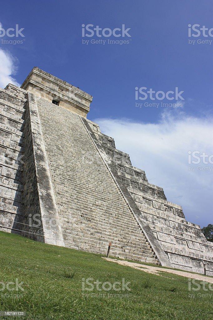 Angled Shot of Chichen Itza royalty-free stock photo