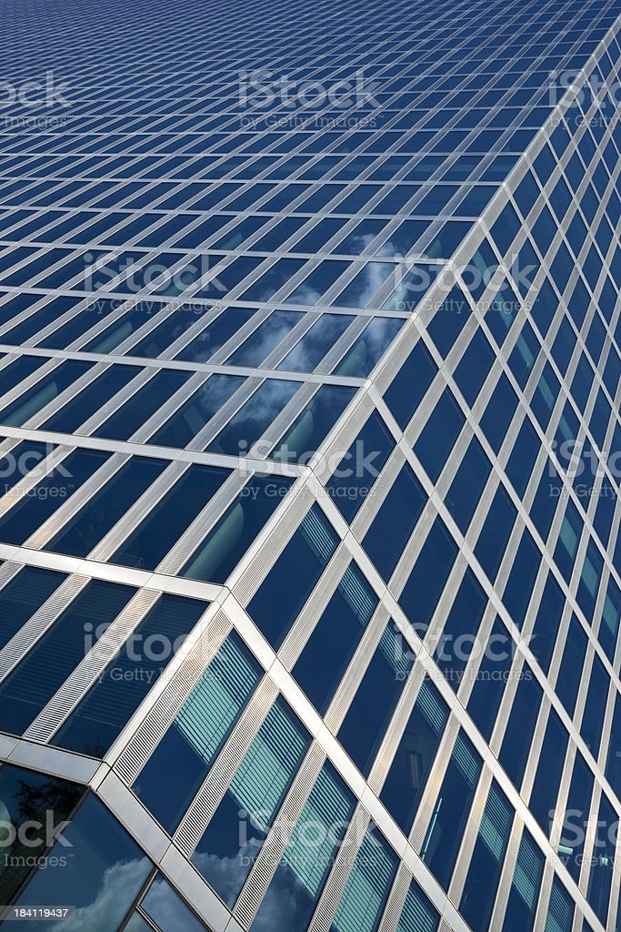 Angled View of Modern Office Building royalty-free stock photo