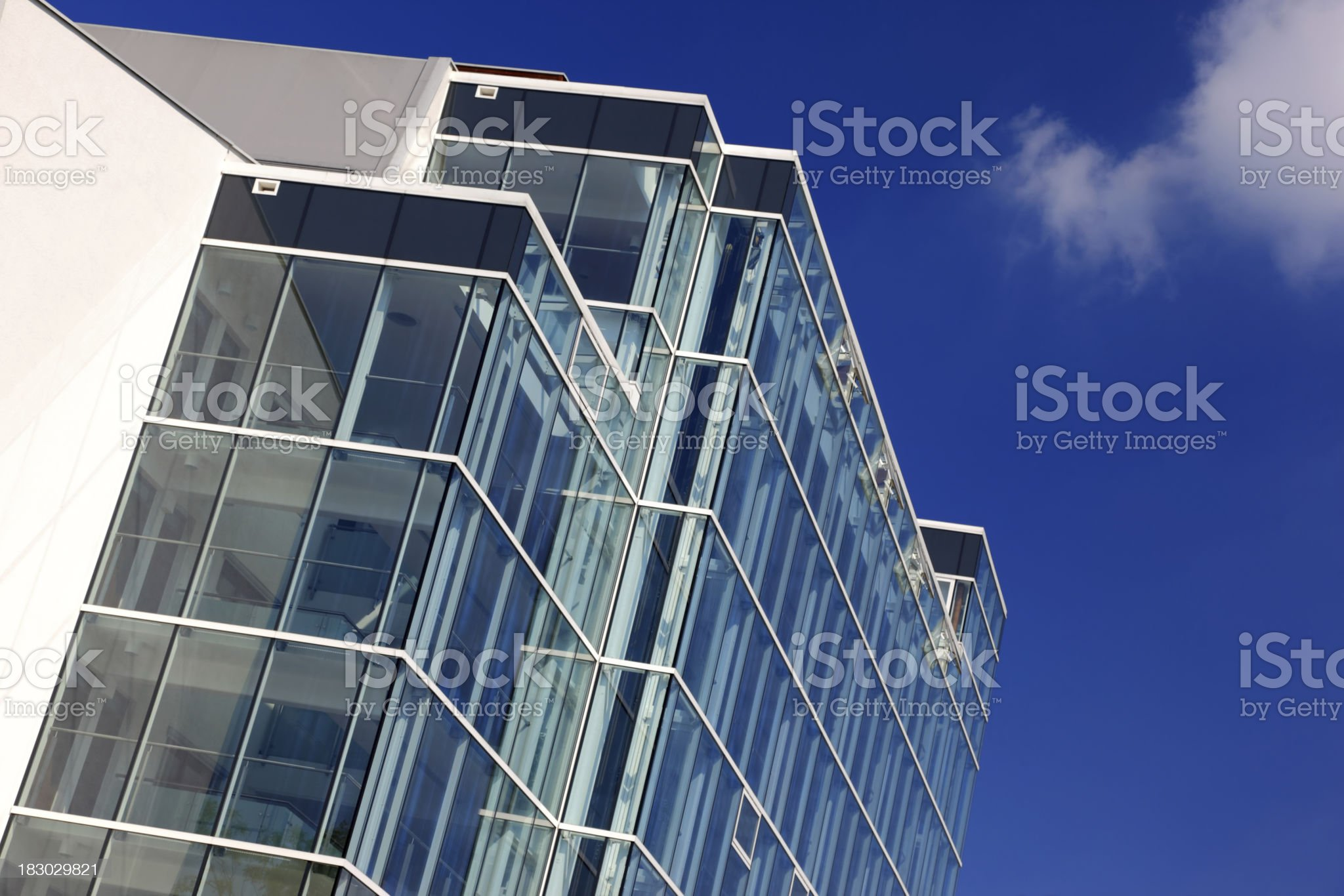 Angled View Of New Apartments royalty-free stock photo