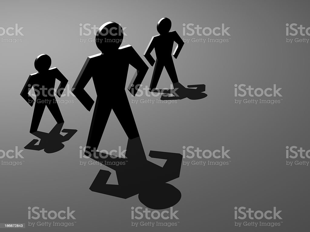 Angled View of Standing with Shadows royalty-free stock photo