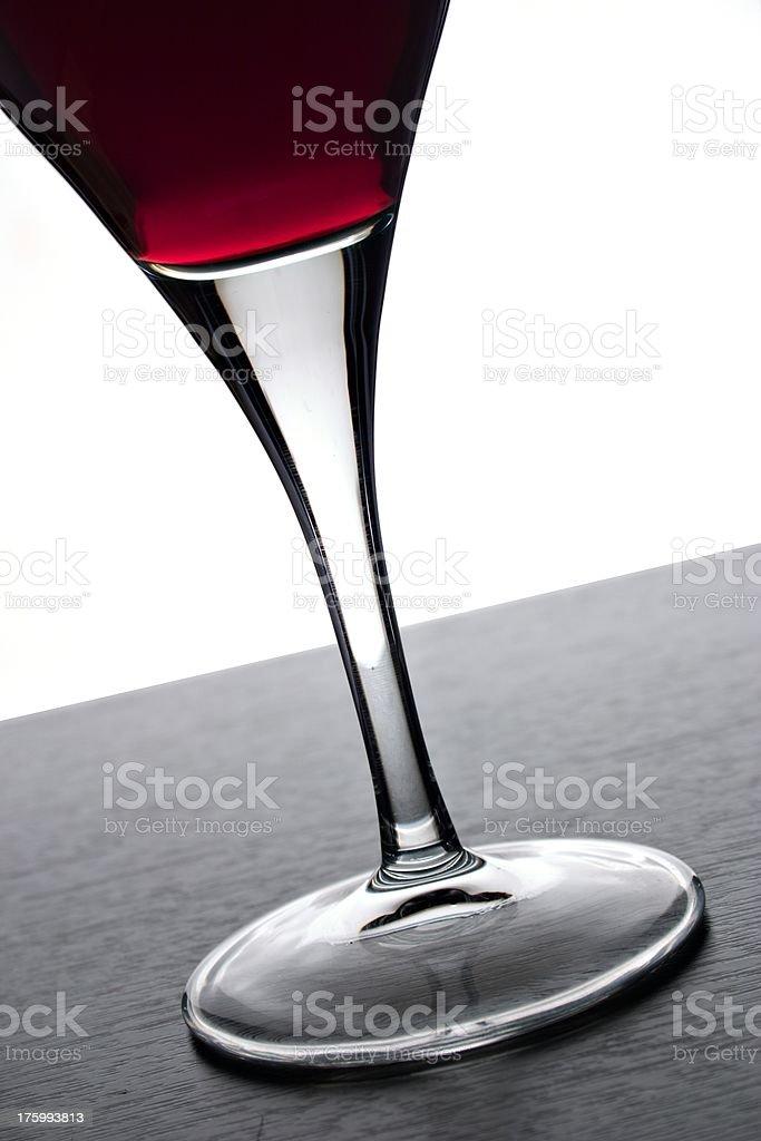 Angled wineglass. royalty-free stock photo