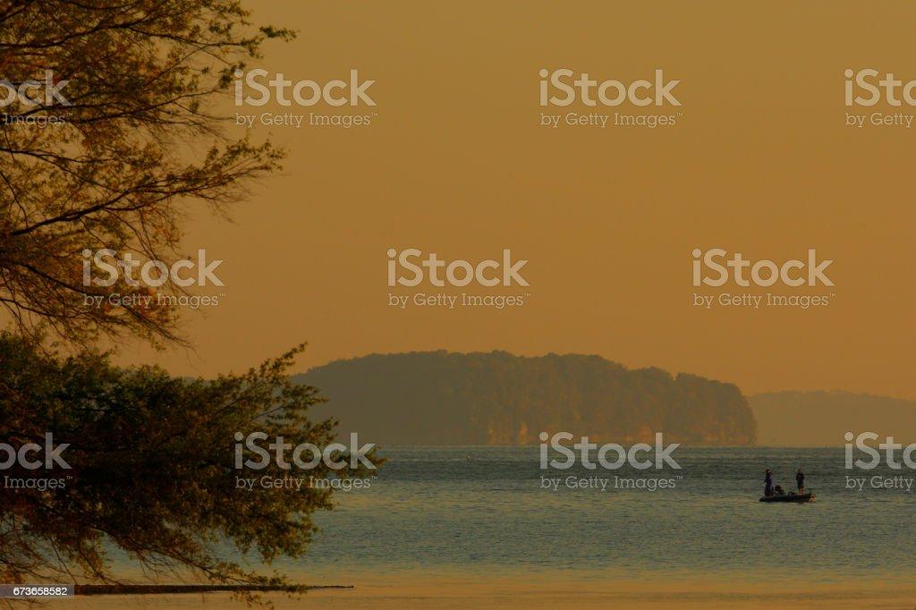 Anglers stock photo