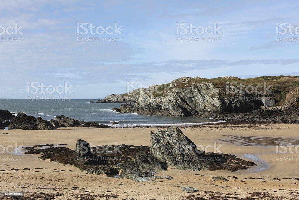 Anglesey Beach Near Trearddur Bay stock photo