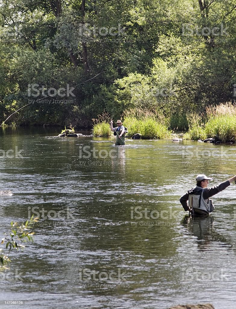 Angling in the white water royalty-free stock photo