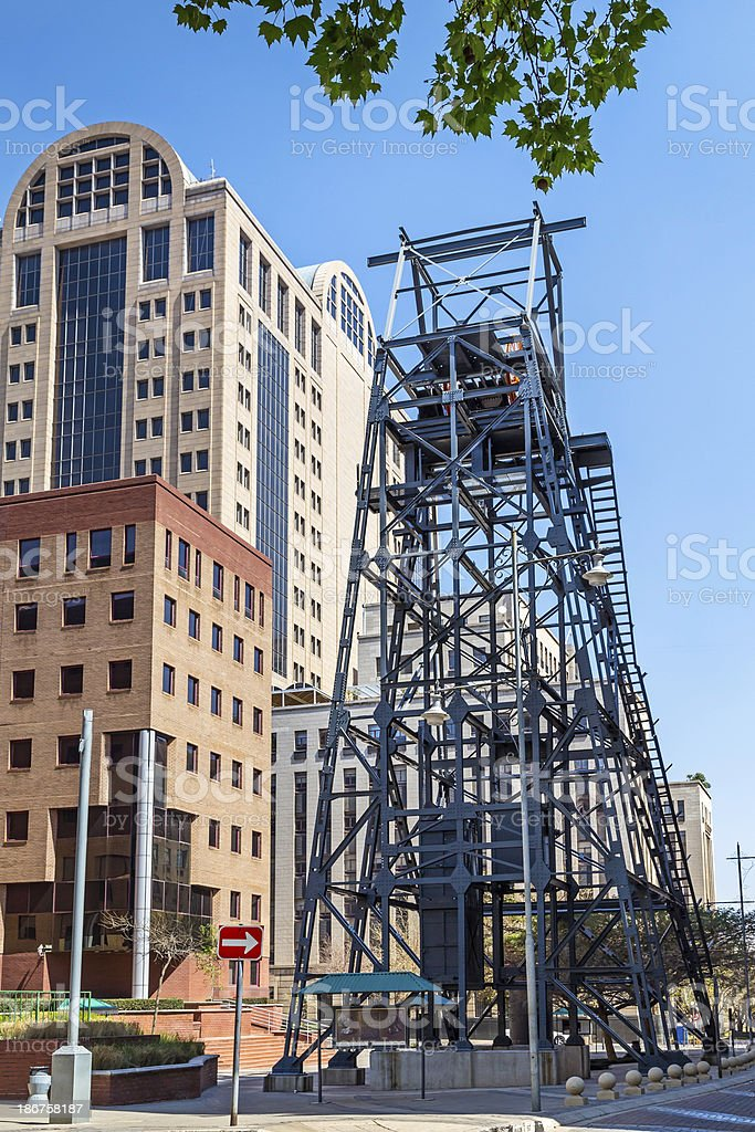 Anglo American Building and Mineshaft royalty-free stock photo