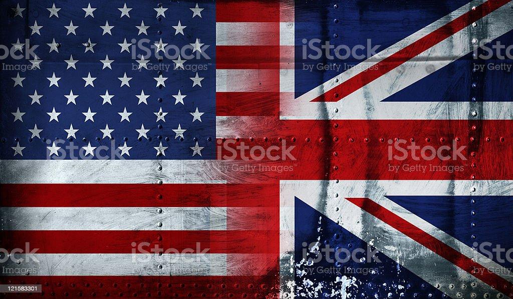 anglo american flag stock photo