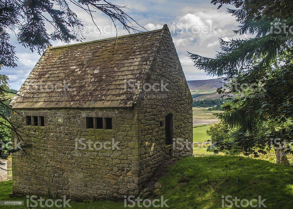 Anglo Scottish Border Bastle Farm House stock photo
