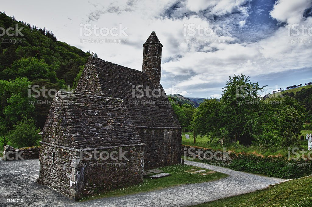 anglo-saxon church in Ireland stock photo