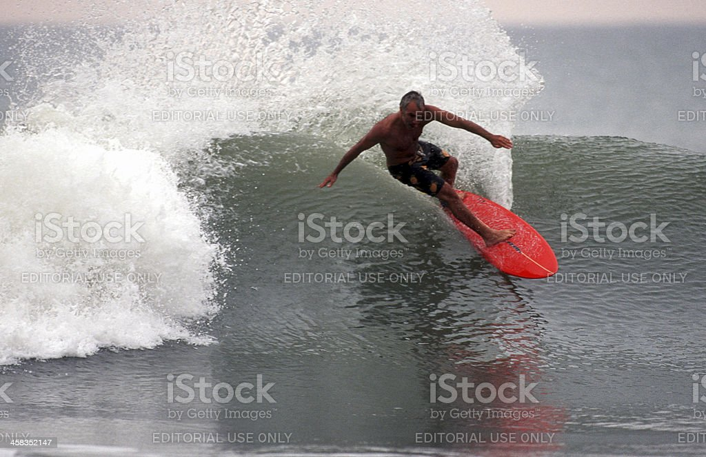 Angola, Bengo Province, surfing in the south Atlantic. royalty-free stock photo