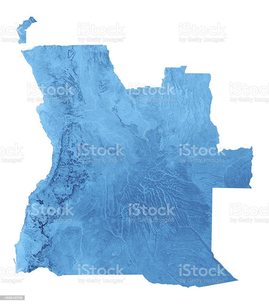 Angola Cabinda Topographic Map Isolated stock photo
