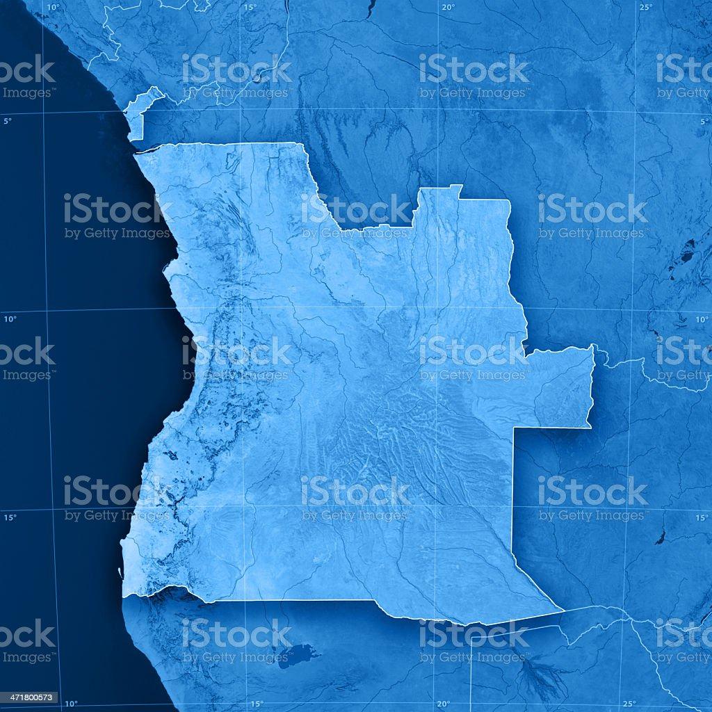 Angola Cabinda Topographic Map stock photo