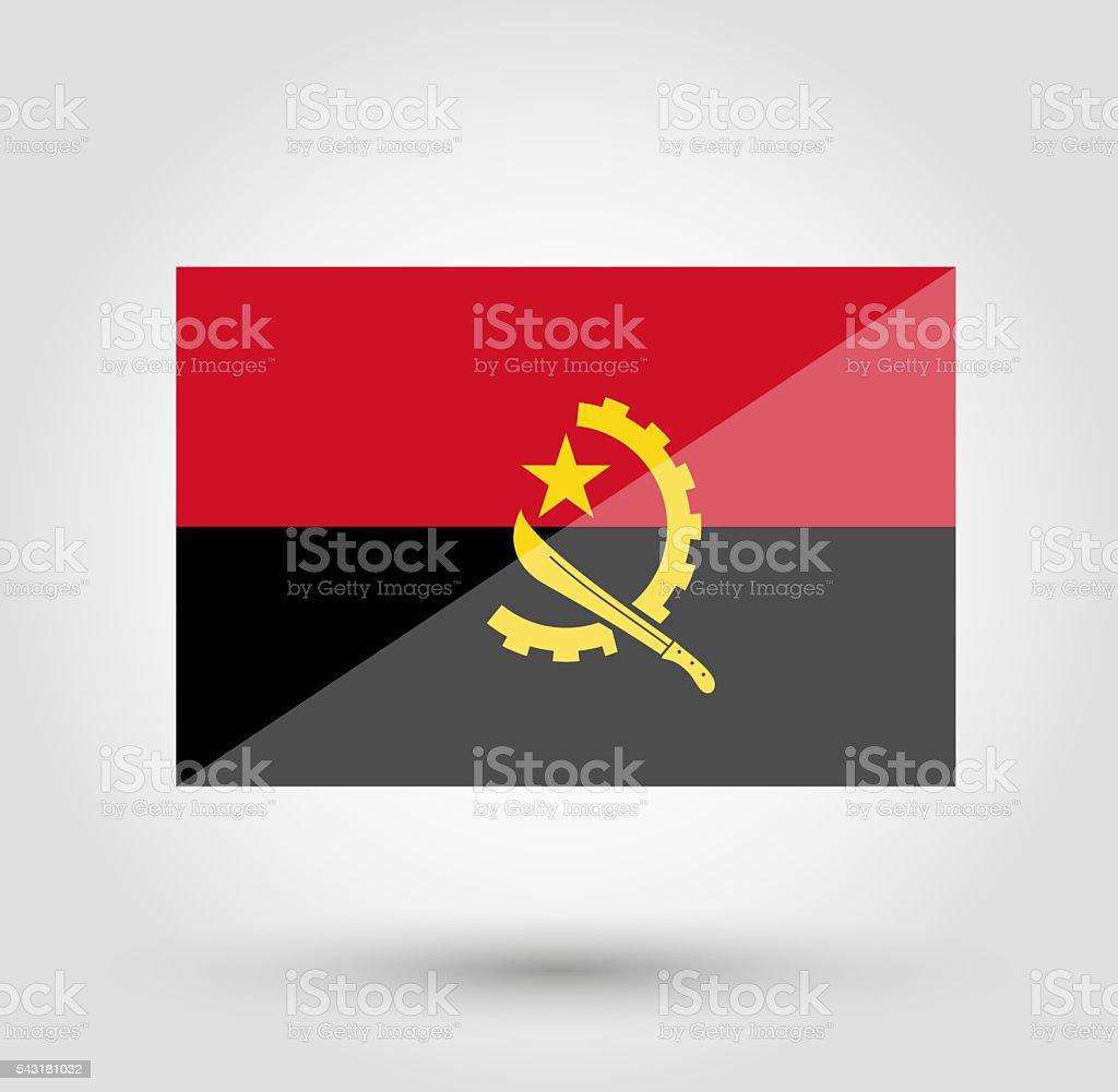Angola flag on gray gradient background stock photo