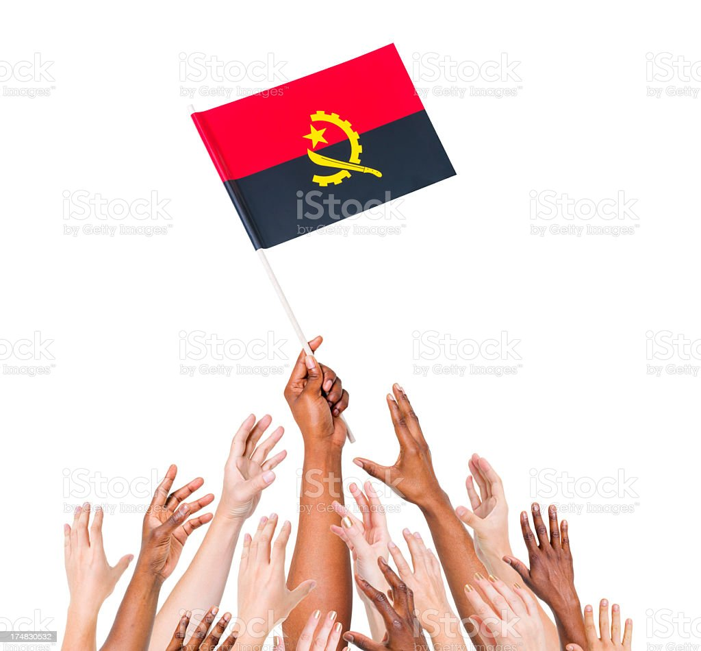 Angola Flag stock photo