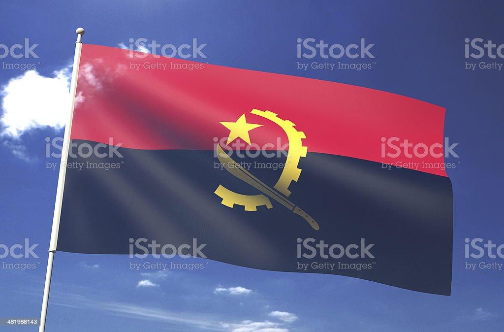 Angola Flag royalty-free stock photo