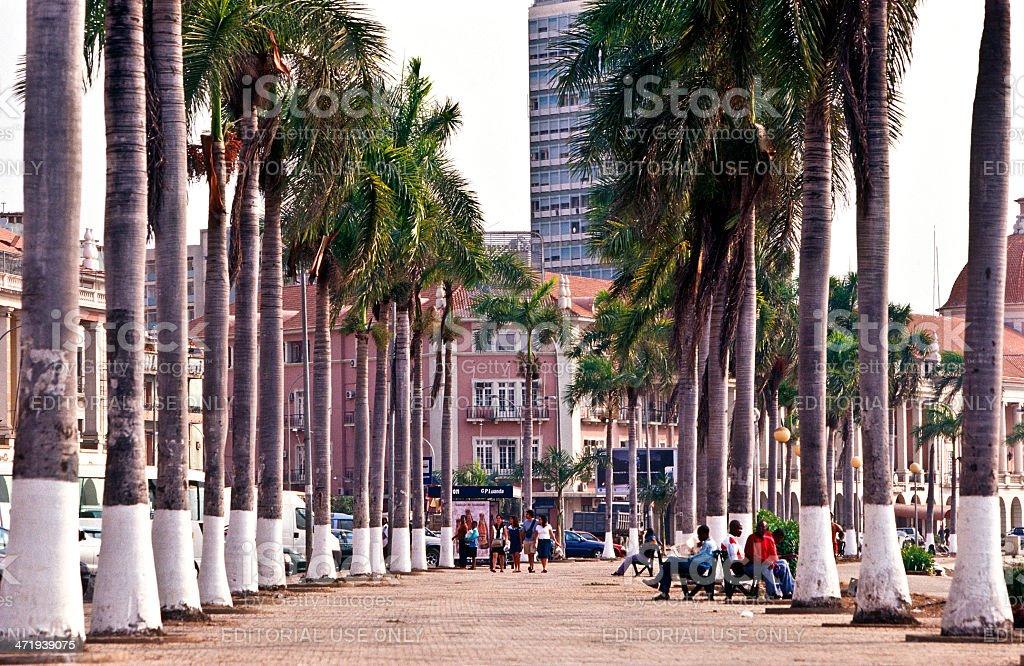 Angola, Luanda, Av. 4 de Fevereiro. stock photo