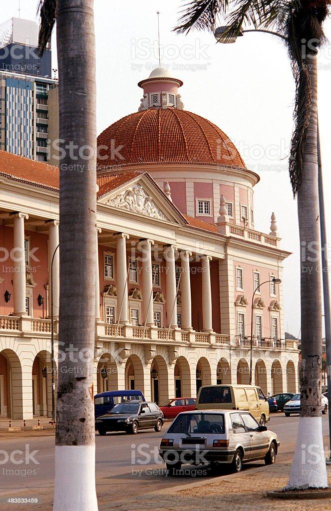 Angola, Luanda, Av. 4 de Fevereiro, the National Bank building. stock photo