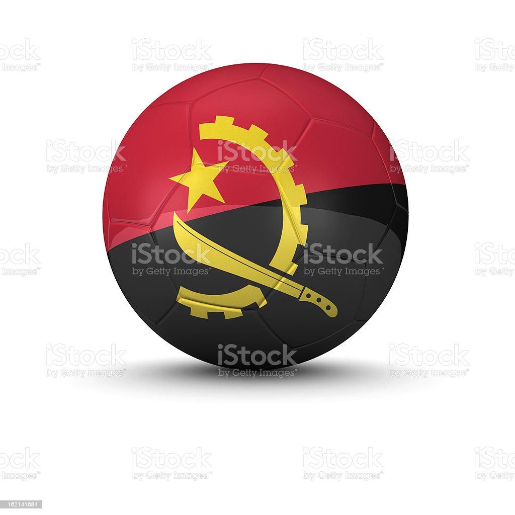 Angola soccer ball royalty-free stock photo