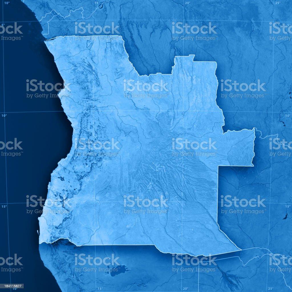 Angola Topographic Map stock photo